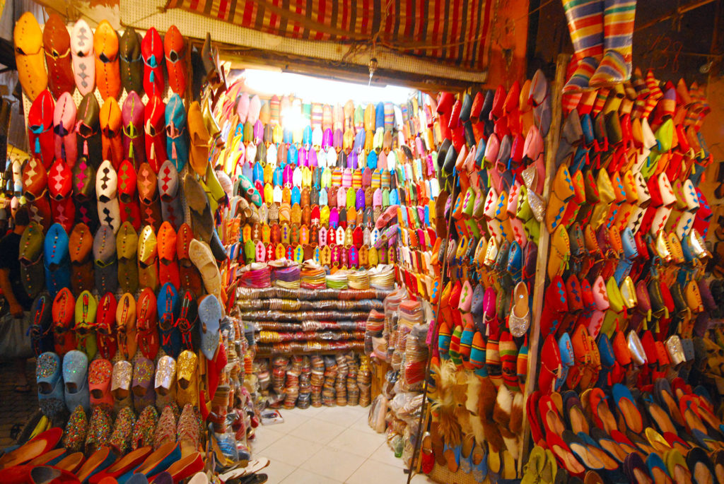 Colourful_shoes_in_Marrakech, from Wikipedia