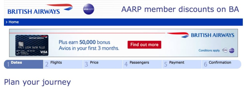 AARP Discount Page