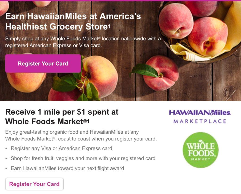 Hawaiian Airlines Whole Foods