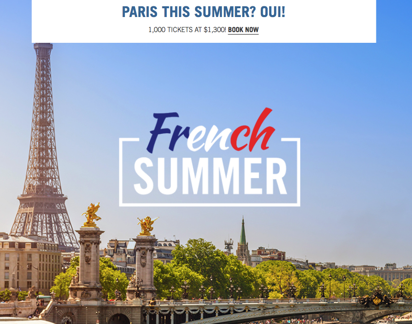 French Summer Business Class Sale