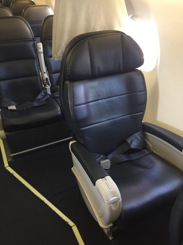 Alaska SkyWest First Class Seat