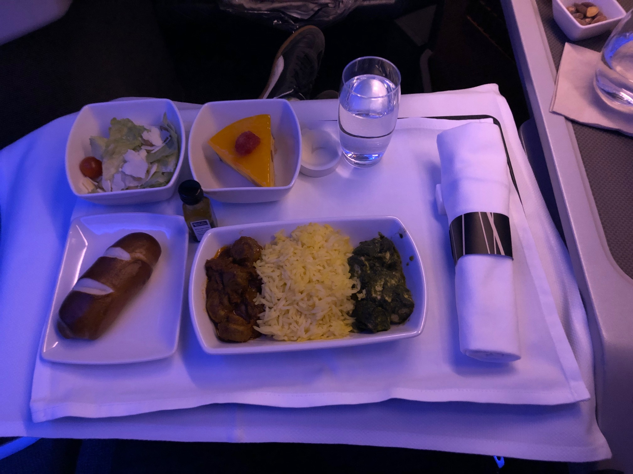 Cathay Pacific Spinach Paneer